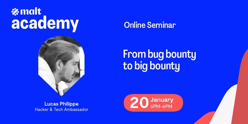 Malt Academy Bug Bounty webinar YesWeHack