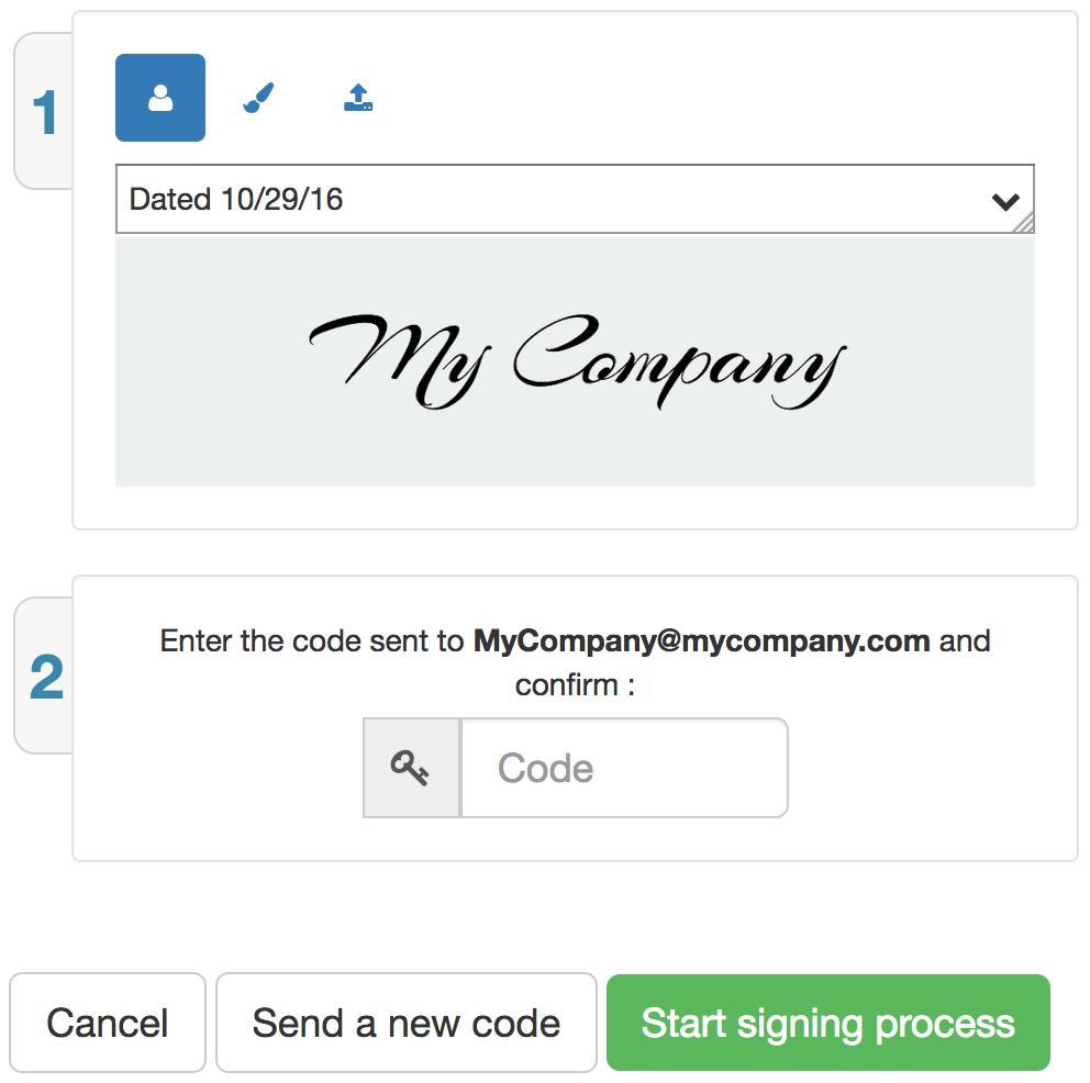 signing process