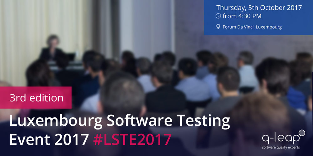 luxembourg software testing event 2017