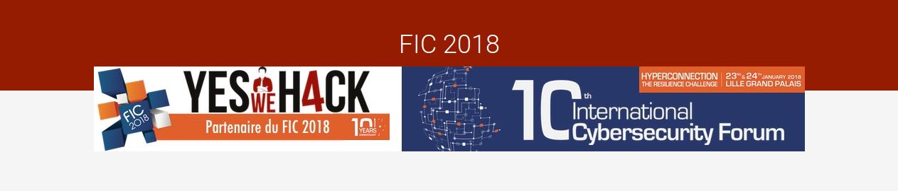 FIC 2018 & YesWeHack promeuvent les métiers de la sécurité numérique !