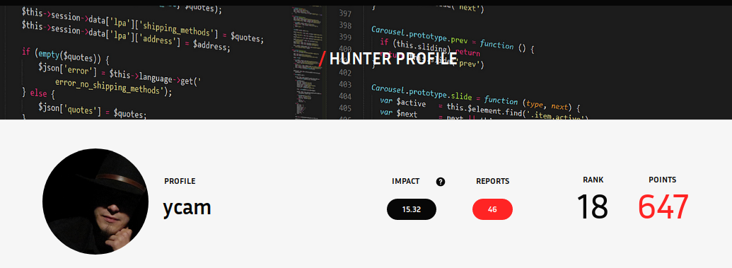 Bug Hunter Public Profile