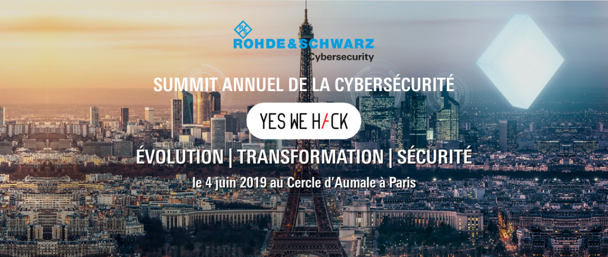 YesWeHack partner of the Rohde & Schwarz Cybersecurity Annual Summit