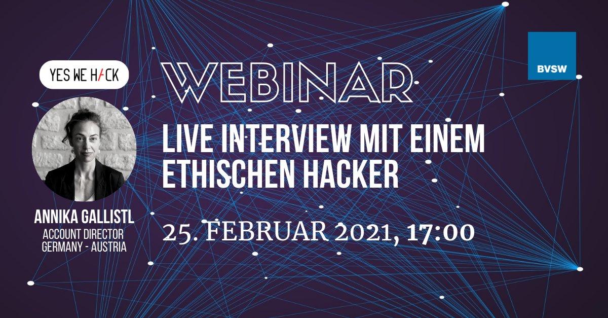 Webinar Live interview mit einem ethischen hacker