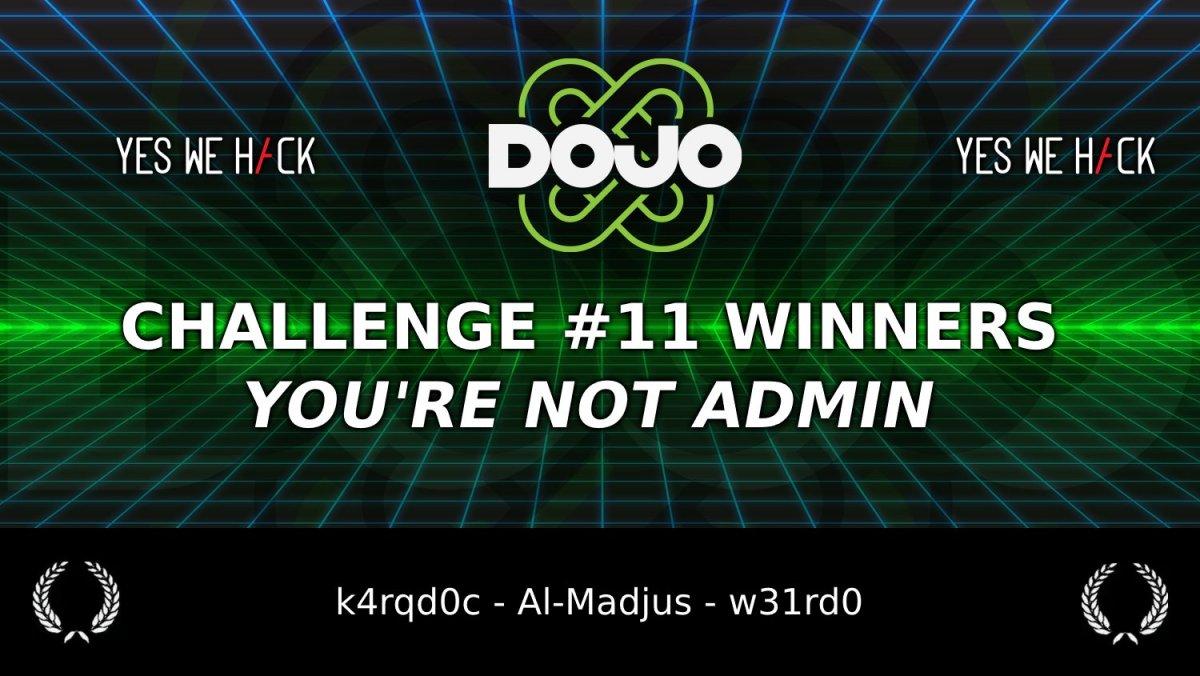 DOJO challenge 11 - Winners