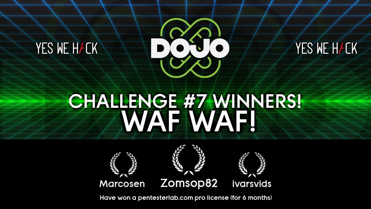 DOJO by YesWeHack - challenge 7 winners waf waf