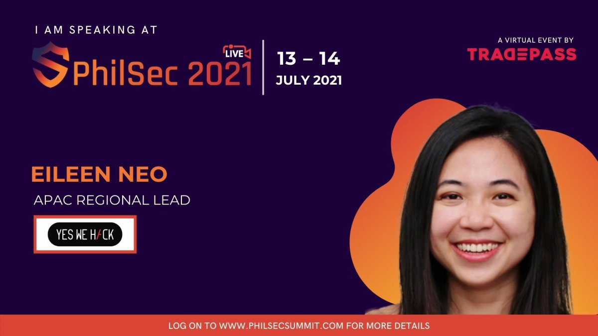 Virtual event Philsec 2021 with Eileen Neo