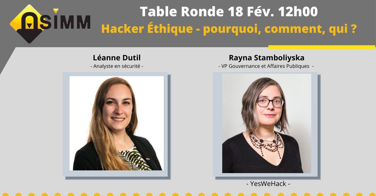 Table ronde white hacking ASIMM YesWeHack