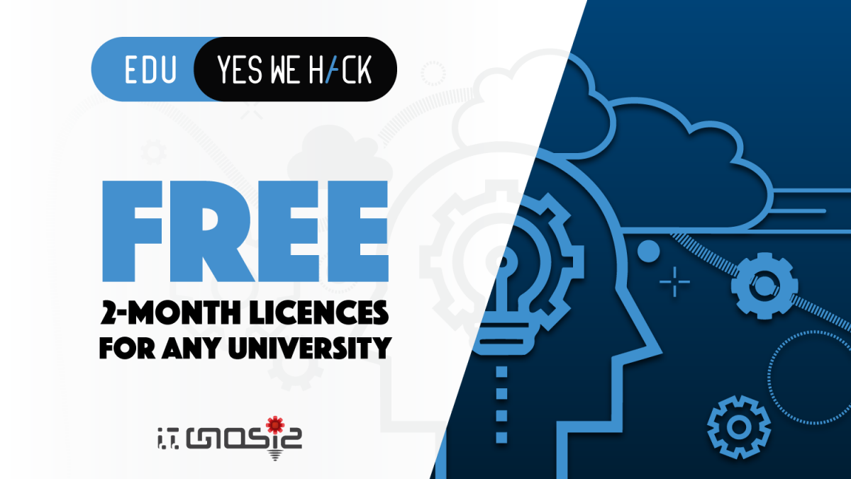 YesWeHackEDU transforms cybersecurity learning. Claim your 2-month spanning free licences today.