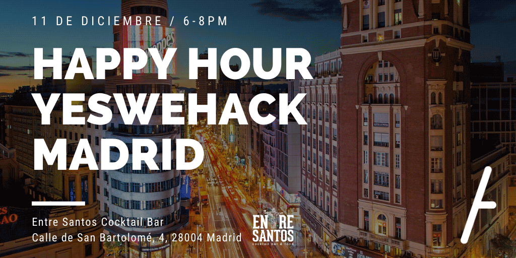 Juntate al Happy Hour YesWeHack en Madrid