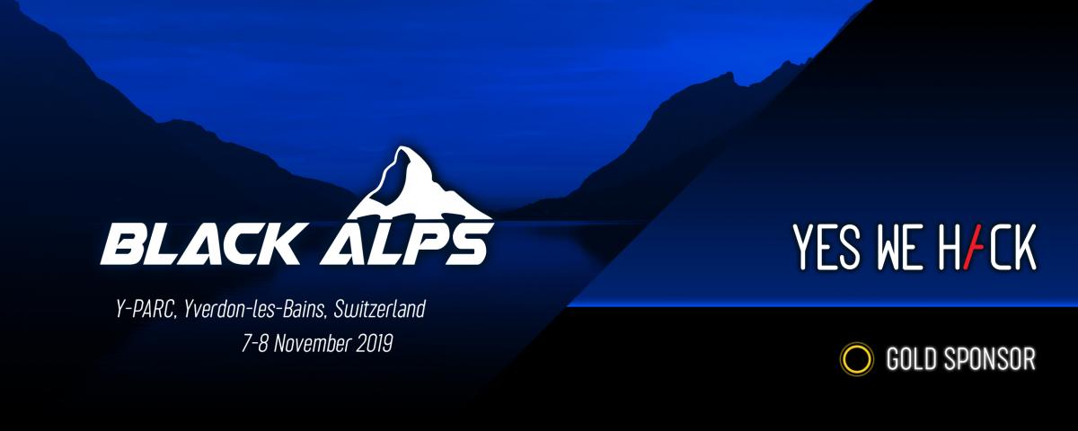 BlackAlps 2019 - yeswehack gold sponsor