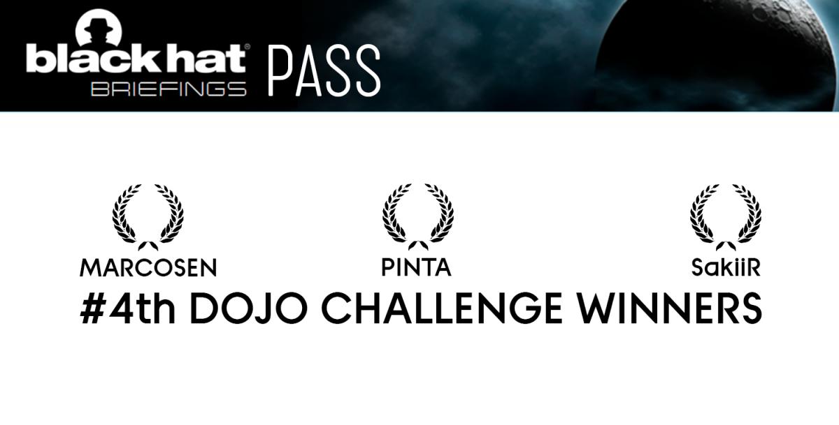 4th DOJO challenge winners By YesWeHack