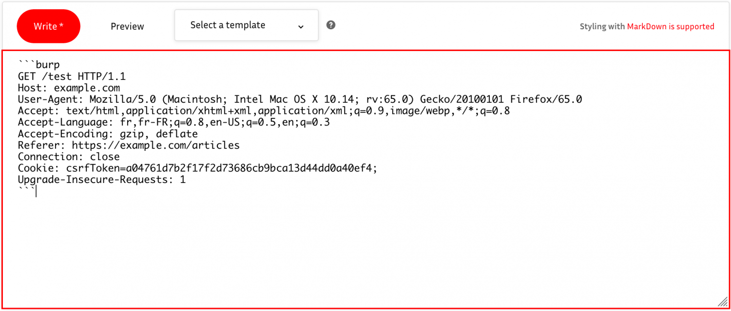 BurpSuite Syntax